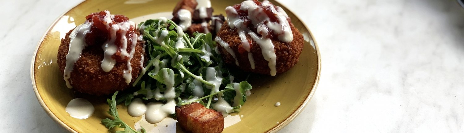 Pork Belly Risotto Cakes
